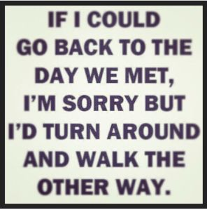 I wish we could go back to the day we met
